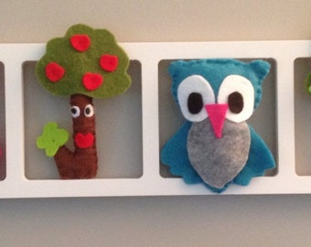 Idea - woodland owls and child and unique baby room.  Birthday gift.