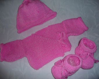 set top hat and booties pink