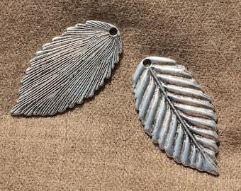 2PC - charm pendant leaf 51mm - 4558550006325