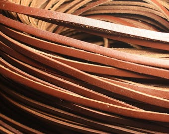 1 meter - cord strap genuine leather Brown 5 x 2 mm 4558550023711