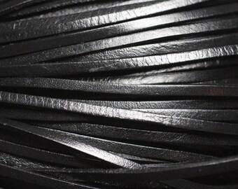 4 metres - 4558550019578 3 mm genuine black leather cord