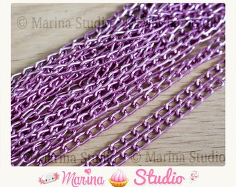 1 m light pink chain aluminum 6 x 3, 5mm mesh horse N28043