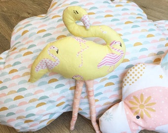 Stuffed plush Flamingo fabric