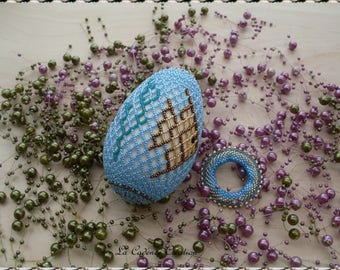 The 2nd egg! woven by hand with needle