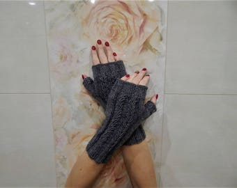 Gloves women,Fingerless gloves,Hand knitted gloves,Fingerless mittens,Arm warmers