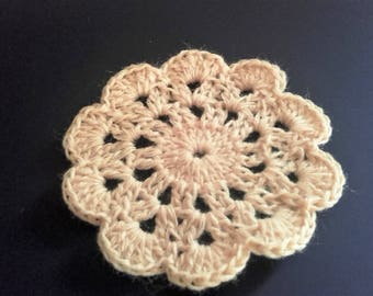(3) set of 5 crochet flowers