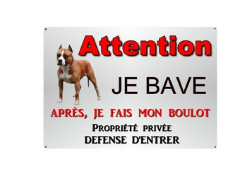 plate beware of dog aluminum 29x20cm metal staff about 10 more