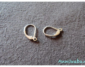 Earrings sleepers Silver 925 15mm with ring open x 2