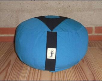 "ZAFU - organic Meditation cushion ""Turquoise/black"""