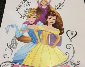 Princess sticker stickers 40 cm x 26 cm
