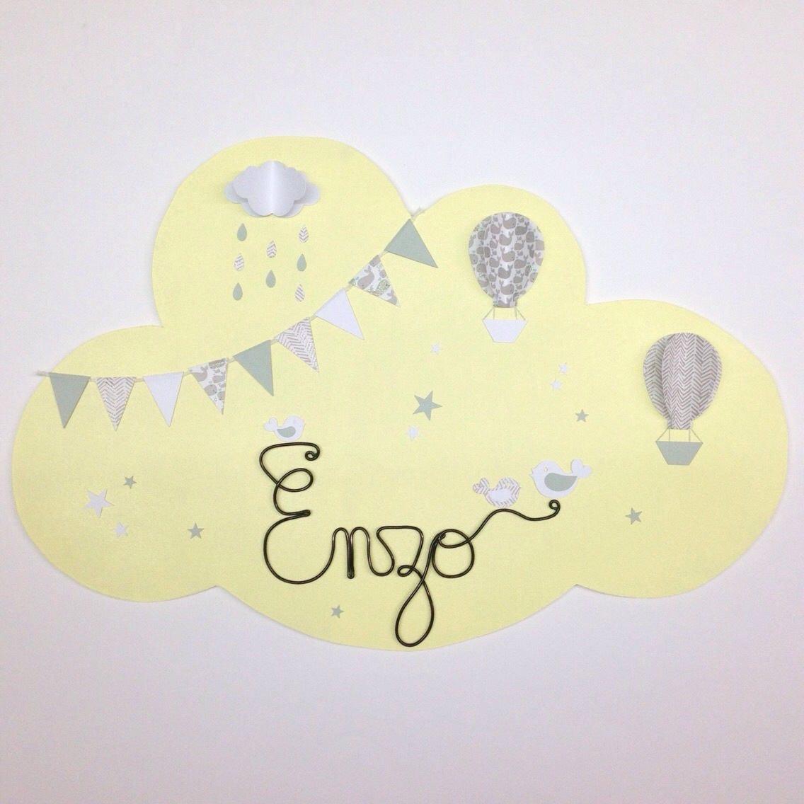 d coration murale nuage pour la chambre de votre enfant. Black Bedroom Furniture Sets. Home Design Ideas