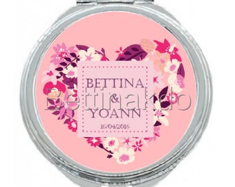 SPECIAL personalized wedding gift Pocket mirror
