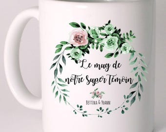"Personalized ceramic MUG ""mug of our great witness"""