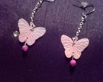 Butterfly Rose earring dangle