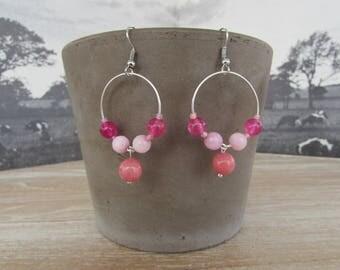 """""""Strawberry Melba"""" earrings"""