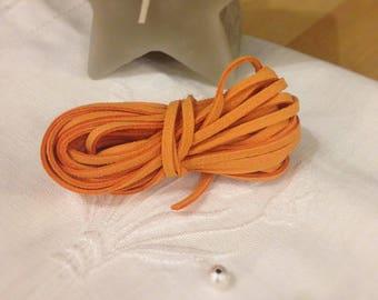 The meter - Tangerine Orange suede cord
