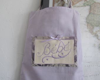 "Great bag for ""Baby"" embroidery machine on ecru linen!"