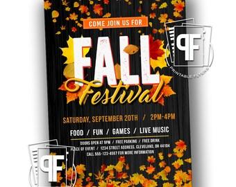 Fall Festival Flyer - Fall Festival Invitation - Fall Flyer - Printable Fall Flyer -