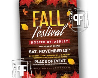 Fall Festival Invitation   Fall Festival Flyer   Autumn Festival Flyer