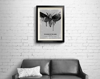 The Silence of the Lambs - alternative, minimalist movie poster, art print, home decor