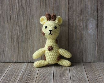 Free shipping! New Handmade Crochet Little Amigurumi Giraffe - Ready to ship