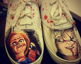 Chucky childs play bloody sneakers