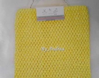 6/9 years, strapless tutu-top yellow, stretchy crochet tulle dress