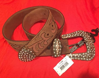 "New Vintage look 30 inch Justin ""Hereford Classic"" Belt"