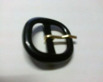 Square 2 cm * BO4 passage black plastic loop