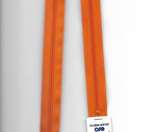 "Closure zipper""plastic"" not separable Z51 55cm orange 680"