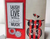 "OWL card ""laugh often..."""
