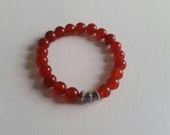 Carnelian Bracelet - 8 mm beads