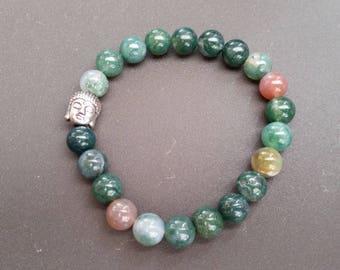 Indian Agate (8 mm beads) bracelet