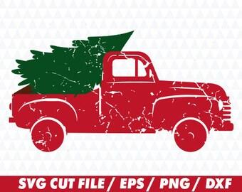 Christmas truck svg, Christmas truck cricut. Distressed svg, Distressed cricut, Christmas svg, Christmas cricut, Christmas tree svg
