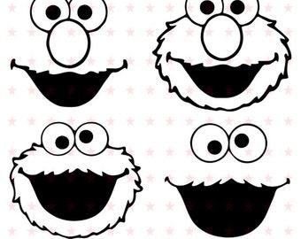 Cookie Monster Svg, Cookie Monster Svg File, Cookie Monster Vector, Cookie Monster Silhouette, Cookie Monster File, Cookie Monster EPS PDF