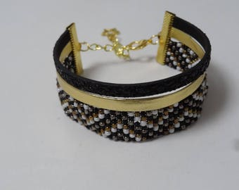 Cuff leather and beads