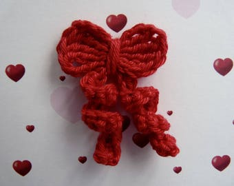 little red bow handmade crochet cotton
