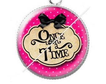 Pendentif cabochon 25mm once upon a time 11