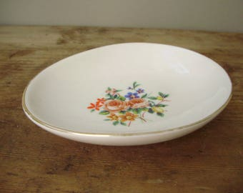 Vintage Hollohaza porcelain plate,ring holder