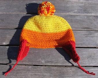 Jayne's Cunning hat, shiny crochet beanie, jayne cobb hat, Firefly hat, Cunning hat, Jayne cob beanie