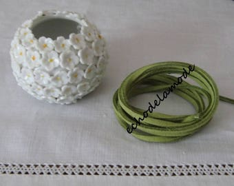 1 m kiwi green suede 3 mm bracelet creations