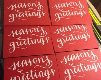 Custom Calligraphy Greeting Cards