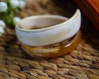 Natural Horn Bangle Bracelet  - TA30110