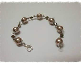 Bracelet with Swarovski pearls