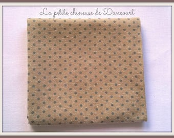 Coupon fabrics of Mas D'ousvan Dots chambray blue