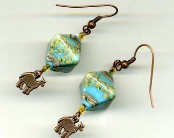 """""""A little tour in Egypt"""" earrings - UNIQUE Piece."""