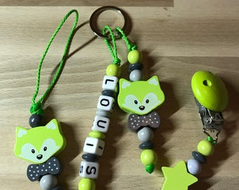 Pacifier with its matching key ring