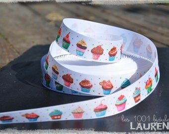 2 - Ribbon - grosgrain - 25 mm - ml Cup Cakes