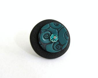 Round polymer clay ring
