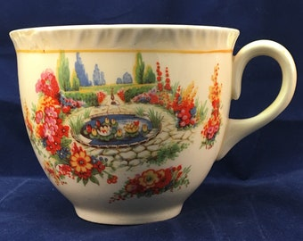 Vintage Made In England Transfer-ware Teacup
